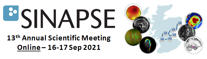 Text saying the 2021 Annual Scientific Meeting is being held online 16 to 17 September next to a picture of Scotland with medical imaging and computer network