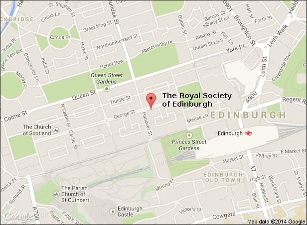 Map of Royal Society of Edinburgh 2